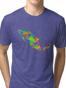 Mexico Watercolor Map Tri-blend T-Shirt