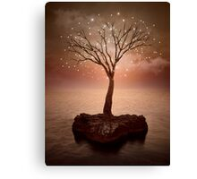 The Strong Grows In Solitude (Tree of Solitude) Canvas Print