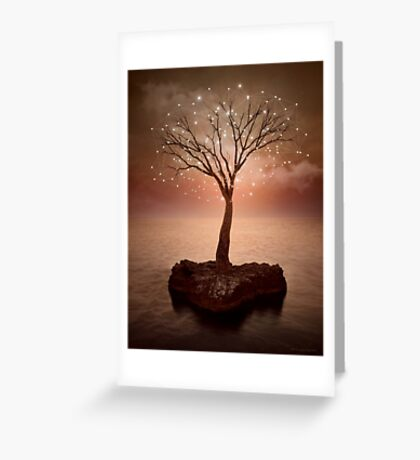 The Strong Grows In Solitude (Tree of Solitude) Greeting Card