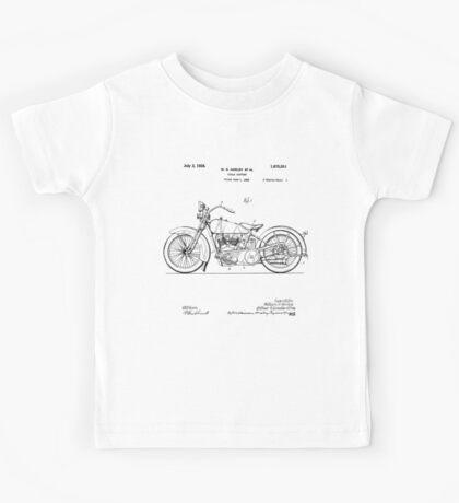 Motorcycle Patent 1925 Kids Tee