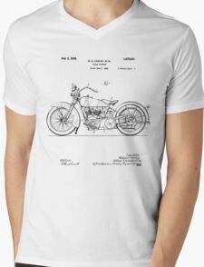 Motorcycle Patent 1925 Mens V-Neck T-Shirt