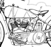 Harley Davidson Motorcycle Patent 1925 Sticker