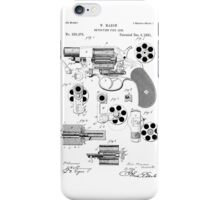 Revolving Fire Arm Patent 1881 iPhone Case/Skin