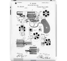 Revolving Fire Arm Patent 1881 iPad Case/Skin