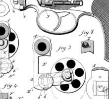 Revolving Fire Arm Patent 1881 Sticker