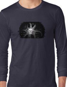 Digital Octopus Skull Long Sleeve T-Shirt