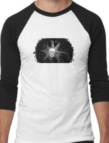 Digital Octopus Skull Men's Baseball ¾ T-Shirt