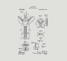 Zipper Patent Art  Unisex T-Shirt