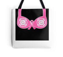 Firefighter Breast Cancer Awareness Tote Bag