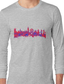Watercolor art of the skyline of London Long Sleeve T-Shirt