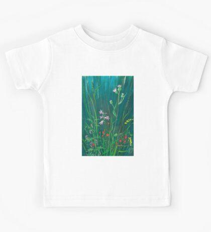 Field Flowers on Blue Kids Tee
