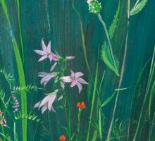 Field Flowers on Blue Sticker