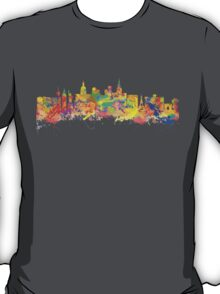 Watercolor art print of the skyline of Las Vegas Nevada City USA T-Shirt