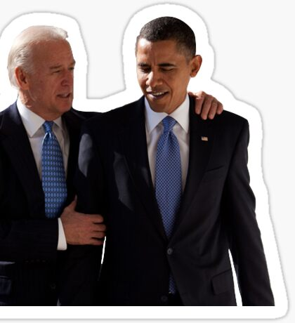 Joe and Barack Sticker