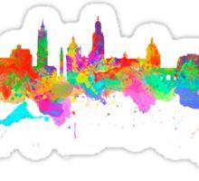 Glasgow Art Watercolor art print of the skyline of Glasgow, Scotland, United Kingdom Sticker