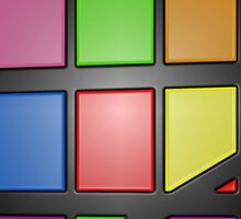 Colorful shiny Abstract Tiles Sticker