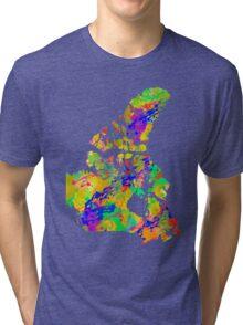 Canada Watercolor Map Tri-blend T-Shirt