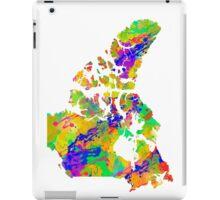 Canada Watercolor Map iPad Case/Skin