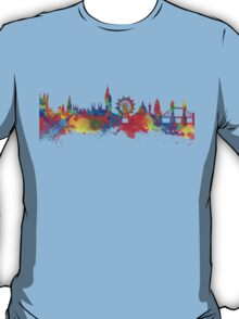 Watercolor art print of the skyline of London T-Shirt