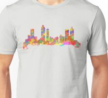 Watercolor art print of the skyline of Atlanta Georgia USA Unisex T-Shirt