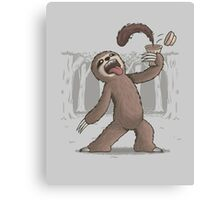 Sloth's Energy Boost Canvas Print