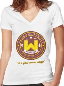 Wumbology Univiversity Women's Fitted V-Neck T-Shirt