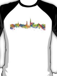Watercolor art print of the skyline of Antwerp in Belgium T-Shirt