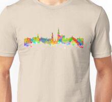 Watercolor art print of the skyline of Antwerp in Belgium Unisex T-Shirt