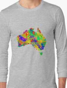 Australia Watercolor Map Long Sleeve T-Shirt
