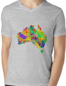 Australia Watercolor Map Mens V-Neck T-Shirt
