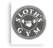 Sloth's Gym Distressed Canvas Print