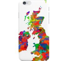 Great Britain Watercolor Map iPhone Case/Skin