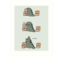 Gojira Kawaii Art Print