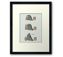 Gojira Kawaii Framed Print