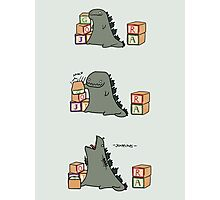 Gojira Kawaii Photographic Print