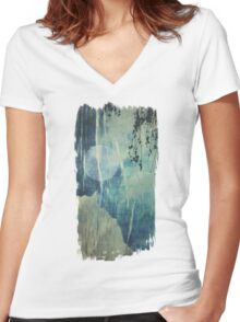 dreaming under the birch Women's Fitted V-Neck T-Shirt