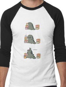 Gojira Kawaii Men's Baseball ¾ T-Shirt