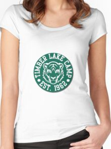 Timber lake campy Women's Fitted Scoop T-Shirt