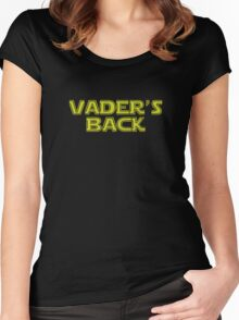Star Wars Vader's Back Women's Fitted Scoop T-Shirt