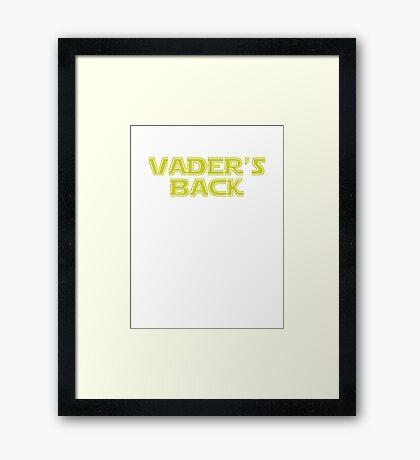 Star Wars Vader's Back Framed Print