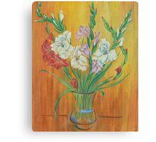 Gladioli in Color Canvas Print