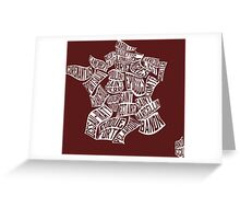 French Regional Cheese Map Greeting Card