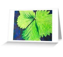 Strawberry Leaf #1 Greeting Card
