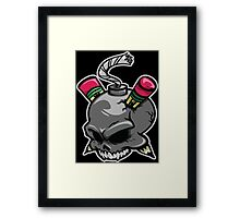 Create or Destroy Logo Framed Print