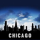 Chicago Illinois Skyline Cityscape Nightfall by T-ShirtsGifts