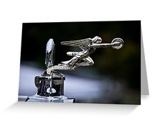 1928 Packard 526 Convertible Coupe Hood Ornament Greeting Card