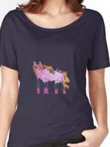 Pink Horse with Orange Hair Women's Relaxed Fit T-Shirt