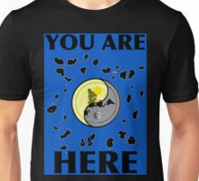 You Are Here, Map of FLAT EARTH Unisex T-Shirt