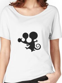souris mouse mickey stencil Women's Relaxed Fit T-Shirt