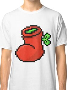 Stocking Full of Green - Pixels Classic T-Shirt